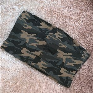 Camo camouflage tube top size L